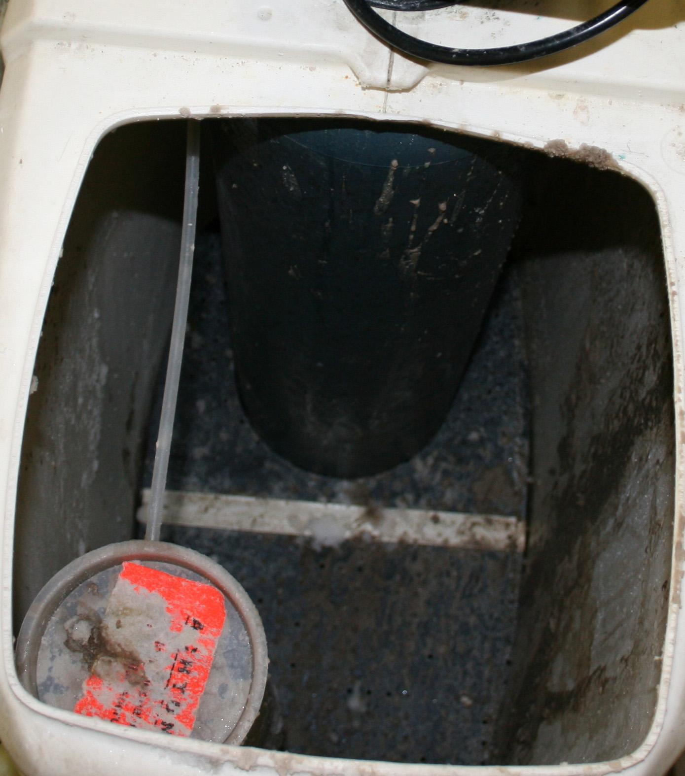 Desinfektion von einem Wasserenthärter